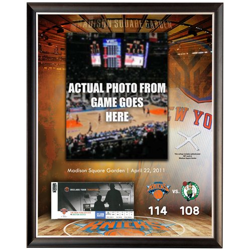 - New York Knicks 2011 Playoff Ticket Redemption 14x20 Collage w/Game Used Net