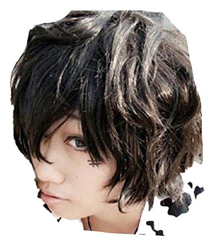 Hitman Reborn Lambo Costume (Hitman Reborn Lambo Katekyo Black cosplay costume cosplay costume wig)