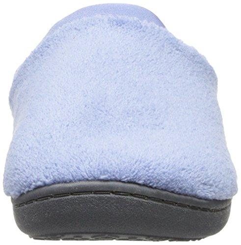 Isotoner Frauen Classic Microterry Hoodback Hausschuhe Blauer Mond