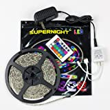 Amazon Price History for:SUPERNIGHT (TM) 5M/16.4 Ft SMD 3528 RGB 300 LED Color Changing Kit with Flexible Strip Light+24 Key IR Remote Control+ Power Supply