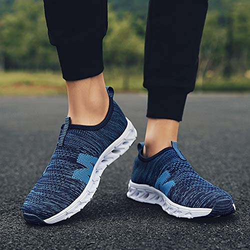 Farjing Men Outdoor Casual Breathable Mesh Comfortable Running Shoes Sneakers(US:10,Blue) by Farjing (Image #3)