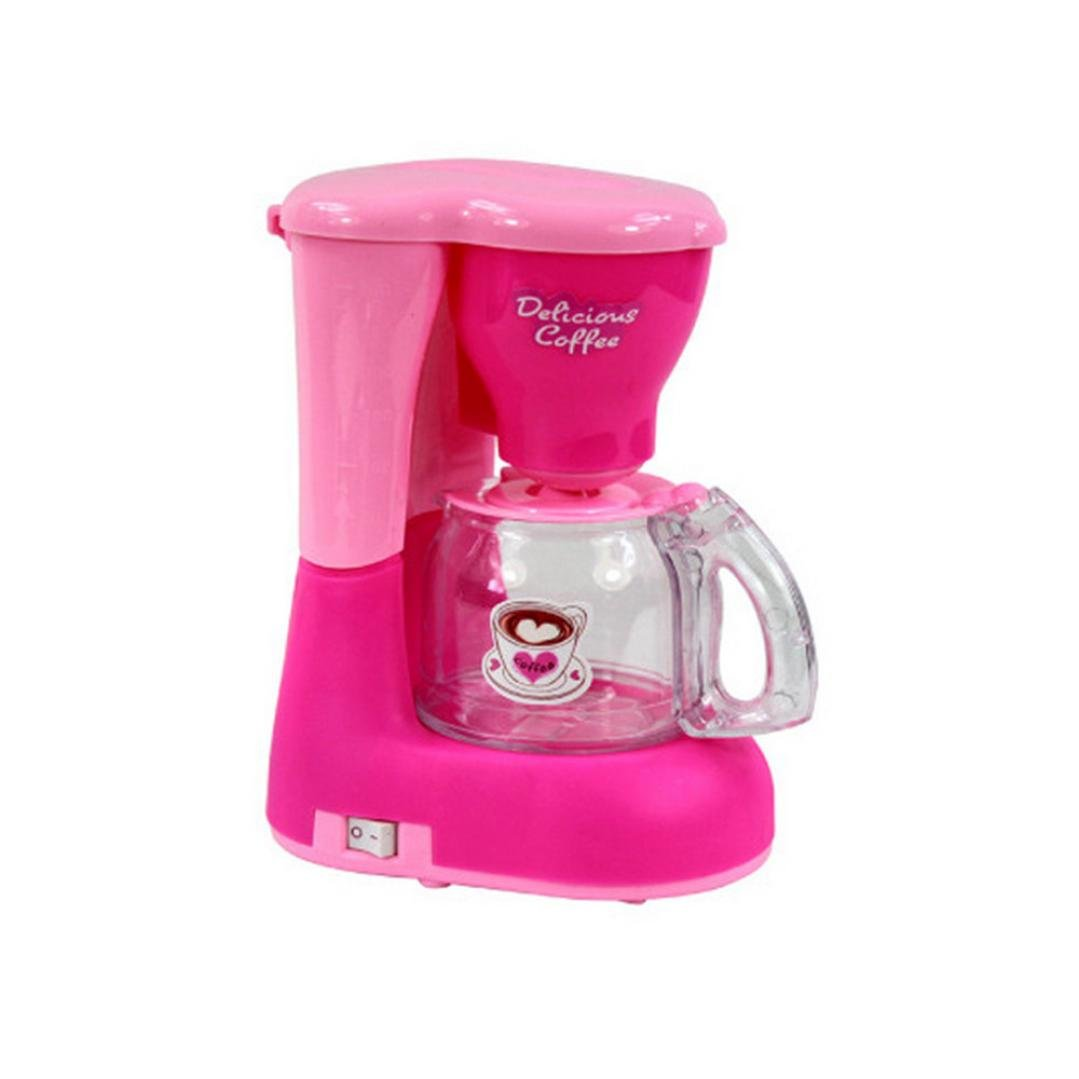 MYQyiyi Mini Cocina de Juguete para Niños, Simulación de Juegos de Pequeños Electrodomésticos , Color Rosa (Cafetera)