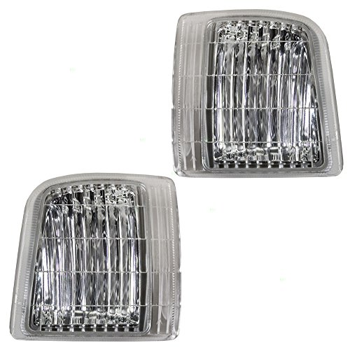 Gmc Safari Corner Light (Driver and Passenger Signal Corner Marker Lights Lamps Replacement for Chevrolet GMC Van 16524075 16524076)