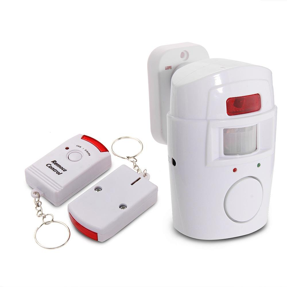 Mengshen/® 2 In 1 Wireless Infrared Detector IR Motion Sensor Security Alarm Chime with 2 Remote Control MS-H88