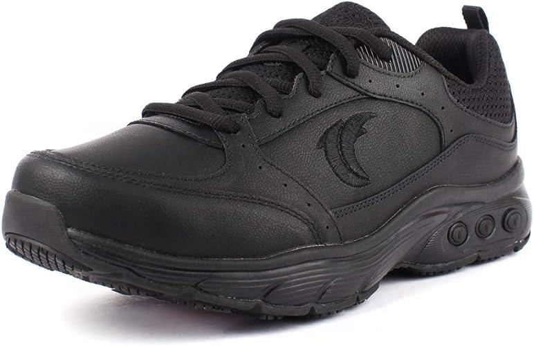 Therafit Shoe Women/'s Kathy Slip Resistant Leather Walking Shoe White, 9.5