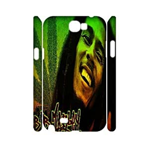 diy 3D Case Cover for Samsung Galaxy Note2 N7100 - Bob Marley case 3