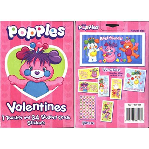 Popples Valentines Cards Sales