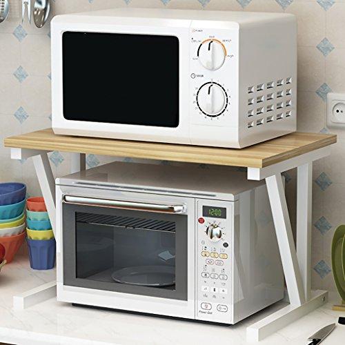 WENZHE Estantería Cocina Baldas Soporte De Suelo Rejilla Del Horno De Microondas Multifunción, 2 Capas, 57 * 38 * 37cm...