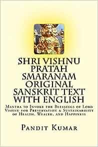 Shri Vishnu Pratah Smaranam Original Sanskrit Text with