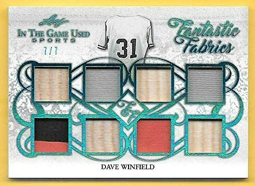 2019 ITG Fantastic Fabrics Platinum Dave Winfield 8 Piece Patch/Bat Relic #7/7