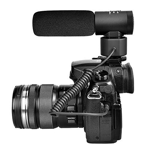 Comica CVM-V20 Full Metal on-camera Cardioid Directional Shotgun Video Microphone Interview Microphone with Shock-Mount for DSLR Camera, Camcorder