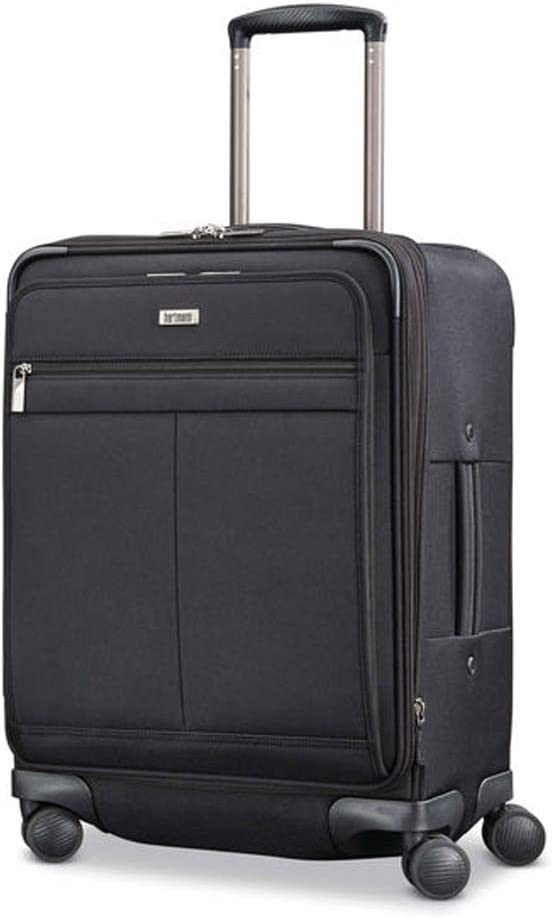 Hartmann Century Domestic Carry On Expandable Spinner Luggage in Basalt Black