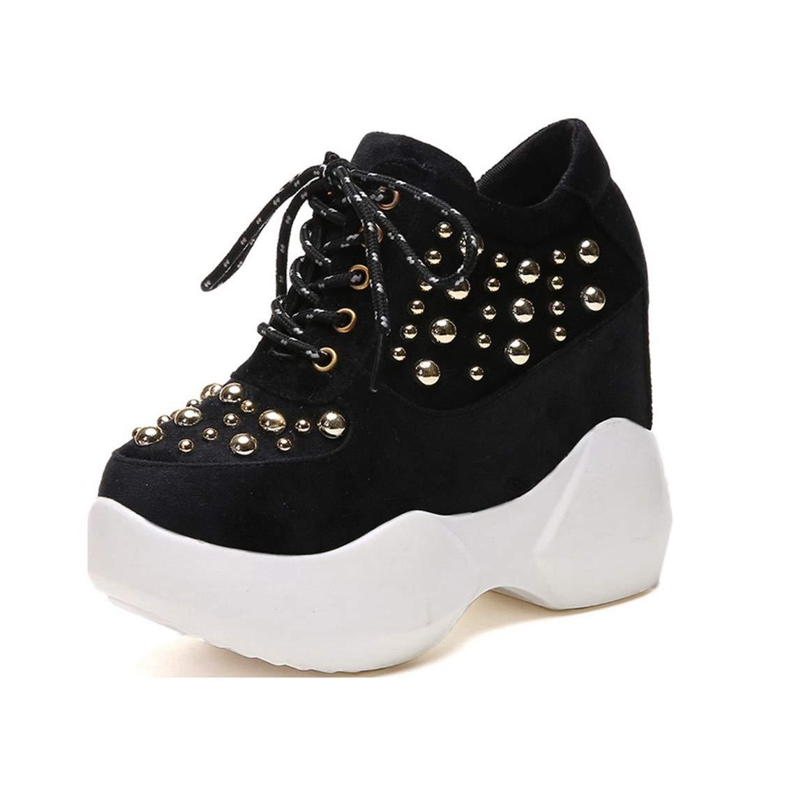 c3c064d620772 Amazon.com: DOSOMI Women's Wedge Sneakers 12cm Height Increasing ...