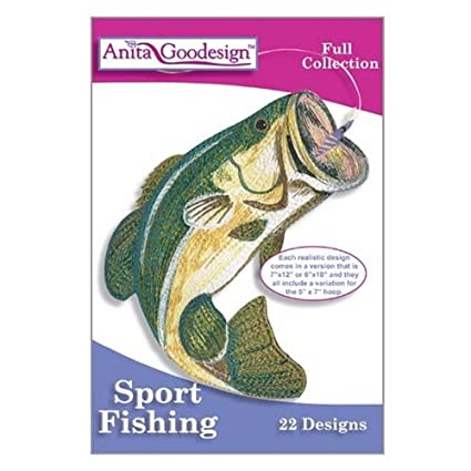 Amazon Anita Goodesign Sport Fishing Embroidery Designs Cd
