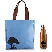Kindle Gear Gift Bundle including Tote Bag, and Travel Water Bottle