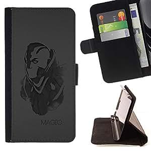 For Apple Apple iPhone 4 / iPhone 4S Case , Magia- la tarjeta de Crédito Slots PU Funda de cuero Monedero caso cubierta de piel