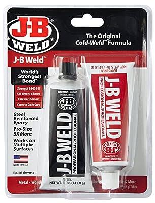 J-B Weld 8281 10 oz. Professional Size Steel Reinforced Epoxy Twin Pack, Dark Grey