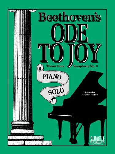 Ode To Joy For Intermediate Piano Solo (Ode Music)