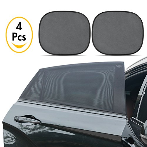 ULTRAPHOTON Car Side Window Baby Sun Shades and rear windshield shade| Perfect Protects Baby and Older Kids from Sun | Fits most Cars and SUVs(Longest Reachable 20in x 49in,Pack of 4)