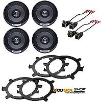 Coaxial Speakers Speaker Adapters Car Stereo Wiring Harness -Package Bundle