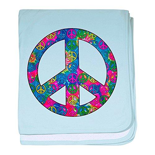 Royal Lion Baby Blanket Peace Symbols Inside Tye Dye Symbol - Sky Blue (Blanket Infant Dye)