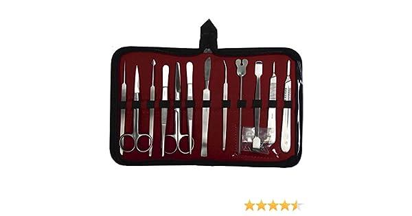 Estuche de disección completo AARON® de 12 piezas. Fabricado en acero inoxidable.: Amazon.es: Salud y cuidado personal