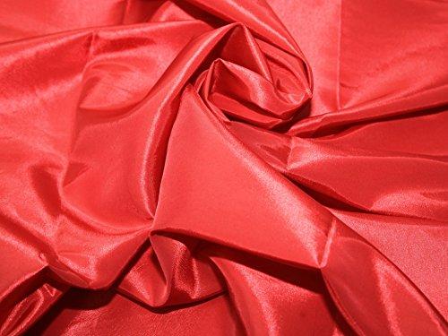 Plain Shot Taffeta Dress Fabric Red - per metre