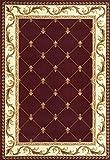 """KAS Oriental Rugs Corinthian Collection Fleur-De-Lis Area Rug, 7'7"""" x 10'10"""", Red"""