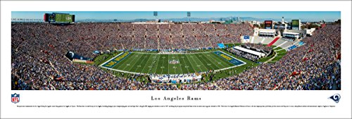 L.A. Rams - 1st Game in L.A. - Blakeway Panoramas Unframed NFL (Memorial Stadium Panoramic Print)