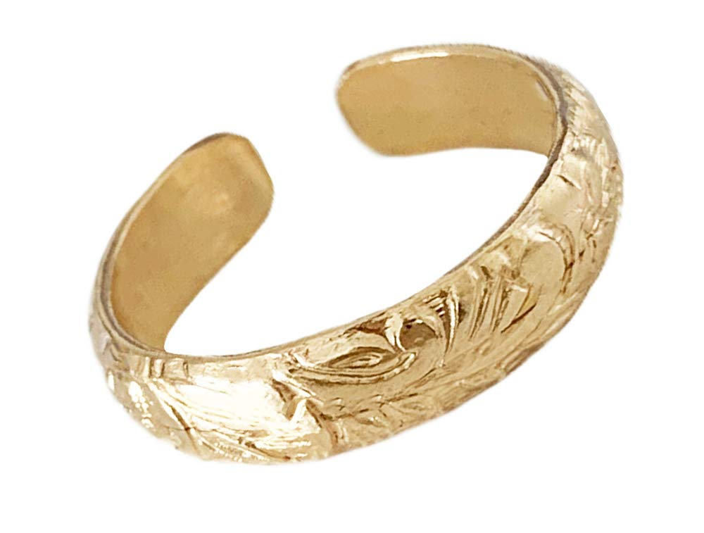 Toe Ring   Gold Coast 14K Gold Fill Adjustable Toe Ring   Attire for Your Toes   Made in The USA   Gold Toe Rings for Women   Hot Trend Jewelry