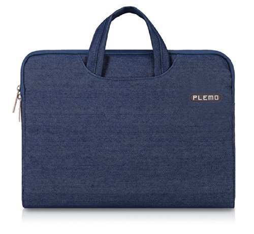 Plemo 14-Inch Laptop Sleeve Case Waterproof Fabric Bag for MacBook Air / Laptops / Notebook, Blue