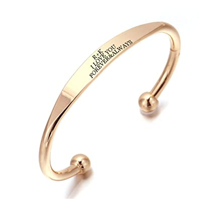 LiFashion Personalized Custom Name Date ID Engraved Promise