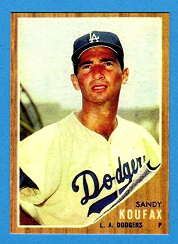 Sandy Koufax 1962 Topps Baseball Reprint Card Dodgers At Amazons Sports Collectibles Store