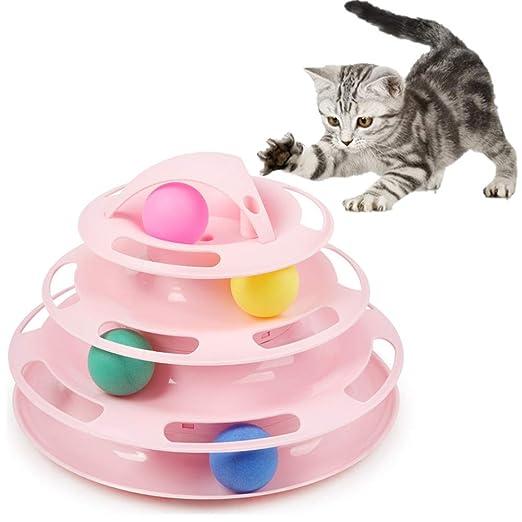 DUOBANGS Juguetes para Gatos Gato de Juguete Gato Jugando a la ...