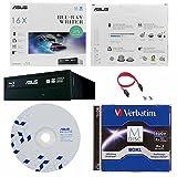Asus 16x -BW-16D1HT Internal Blu-ray Burner Bundle with 100GB Verbatim M-Disc BDXL, BD