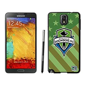 Fashionable And Antiskid Designed MLS Seattle Sounders FC Samsung Galaxy Note 3 N900A N900V N900P N900T Case Cover 01 Black