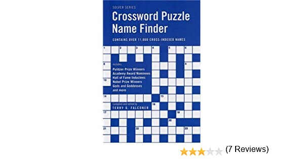 Crossword Puzzle Name Finder Solver Terry G Falconer Amazon Books