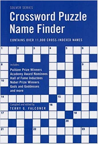 Crossword Puzzle Name Finder Solver Free Pdf List