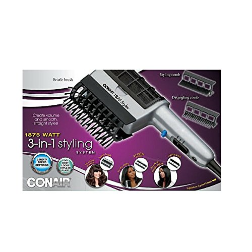 Conair 3 in 1 Hair Dryer Brush Styling System -- 1 each.
