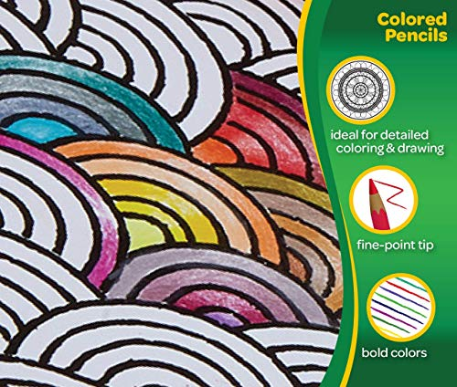 Crayola Colored Pencils, 36 Premium Quality, Long-Lasting, Pre-Sharpened Pencils Non-Toxic Colored Pencil Set for Adult Coloring Books or Kids 4 & Up, Great for Shading, Gradation, Line Art & More by Crayola (Image #2)