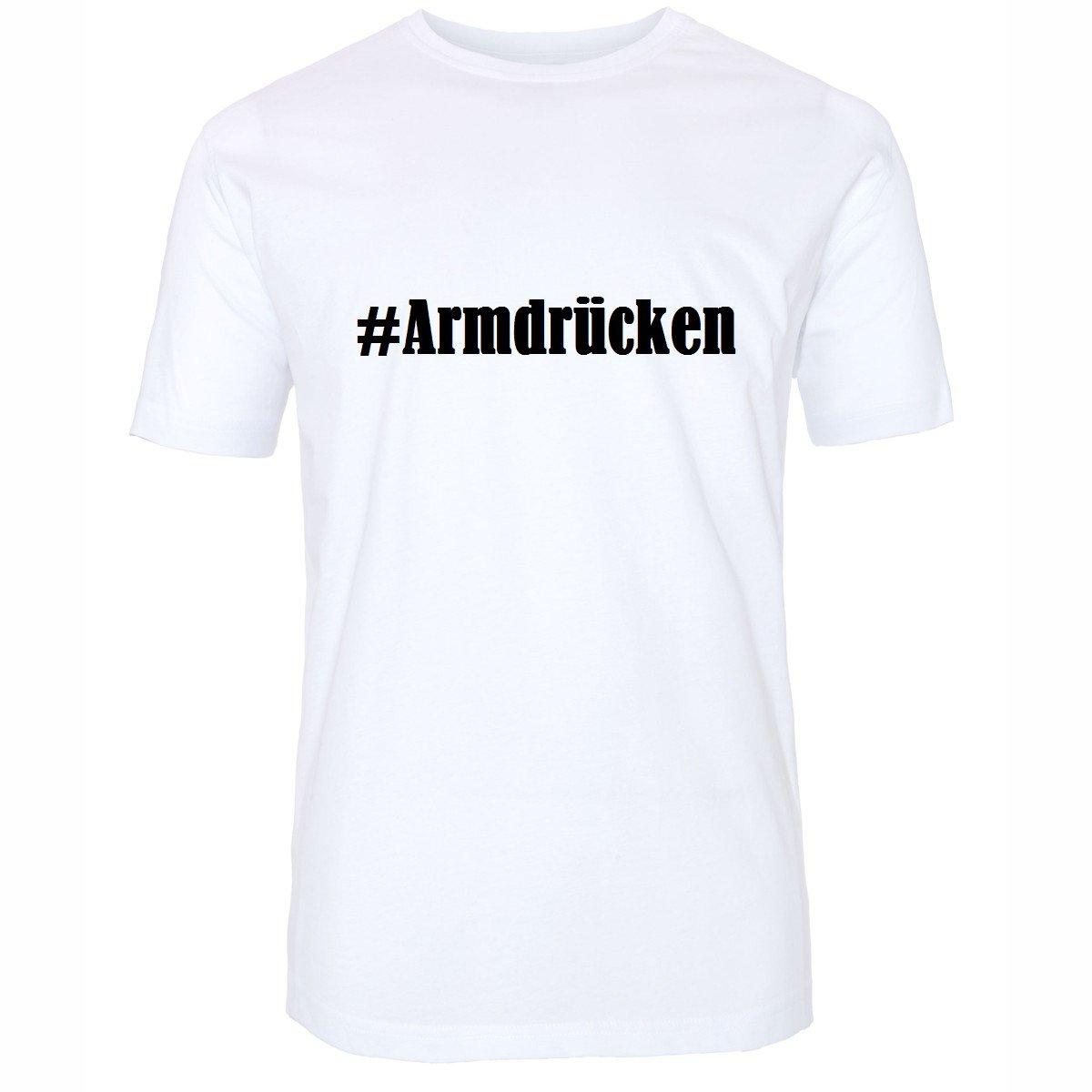 T-Shirt #Armdrücken Hashtag Raute für Damen Herren und Kinder ... in den Farben  Schwarz und Weiss: Amazon.de: Bekleidung