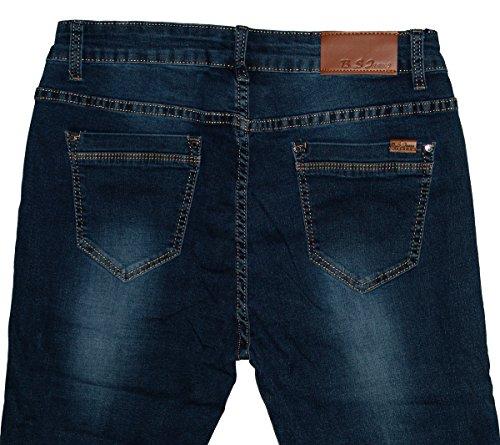 s Donna Used darkblue Straight Jeans Dunkelblau B BqOzvxz