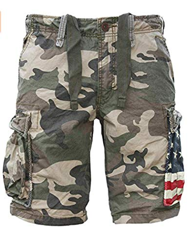 Jet Lag CAMO Shorts with Flag