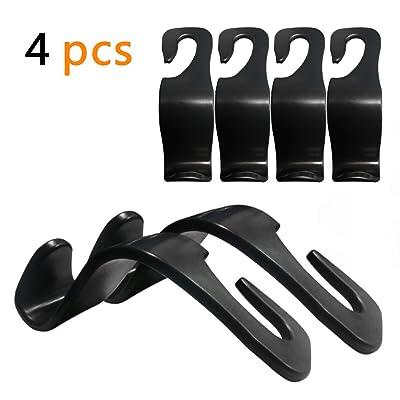 QMET Car Headrest Hook Vehicle Back Seat Hanger Storage for Purse Groceries Bag Handbag: Automotive