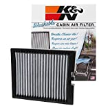K&N VF1011 Washable & Reusable Cabin Air Filter Cleans and Freshens Incoming Air for your Ford Explorer, Flex, Taurus, Lincoln MKS