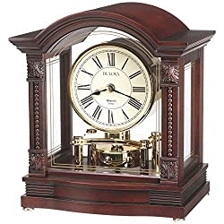 Bulova B1987 Bardwell Clock, Antique Walnut