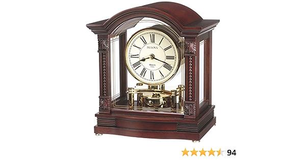 Walnut 7.5 Bulova B7450 Edinbridge Table Top Clock