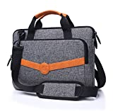 FYY Case for Macbook Pro15, [Super Functional Series]Premium Canvas Sleeve Bag with Practical Pockets for Macbook Pro 15''(2016 Released)and fits 14''-15.4'' Laptop/Ultrabook/Notebook/Chromebook/Dell XPS