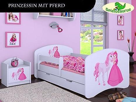 Cama Infantil Princesa Con Caballo Diferentes Tamanos Blanco Weiss Talla 180 X 90 Amazon Es Bebe