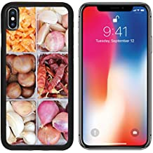 MSD Premium Apple iPhone X Aluminum Backplate Bumper Snap Case Thai spices and herbs set Shrimp Peppers chestnuts Onions Garlics Image ID 24436166